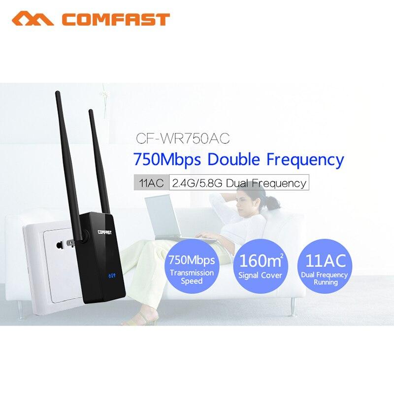 COMFAST 5.8 Г Dual Band AC Беспроводной Wi-Fi ретранслятор Range Extender сигнала Усилители домашние 750 Мбит/с 10dbi Телевизионные антенны Wi-Fi Booster repetidor