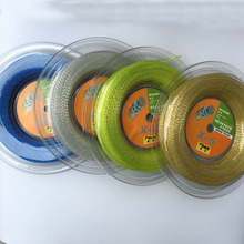 Genuine powerti Taiwan HEXA SPIN 200m hexagonal spinning polyester tennis string powerti ts 4g 1 3mm tennis string polyester 200m reel tennis string sport gym tennis racquet training tennis lines for outdoor