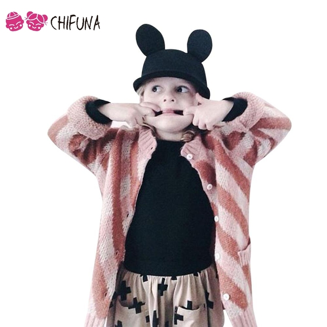 Chifuna Infantil Muchachas de Los Bebés de Los Niños Suéteres de Moda Diamante Celosía Niños de Punto Jerseys de Cuello Chaqueta de Punto prendas de Vestir Exteriores