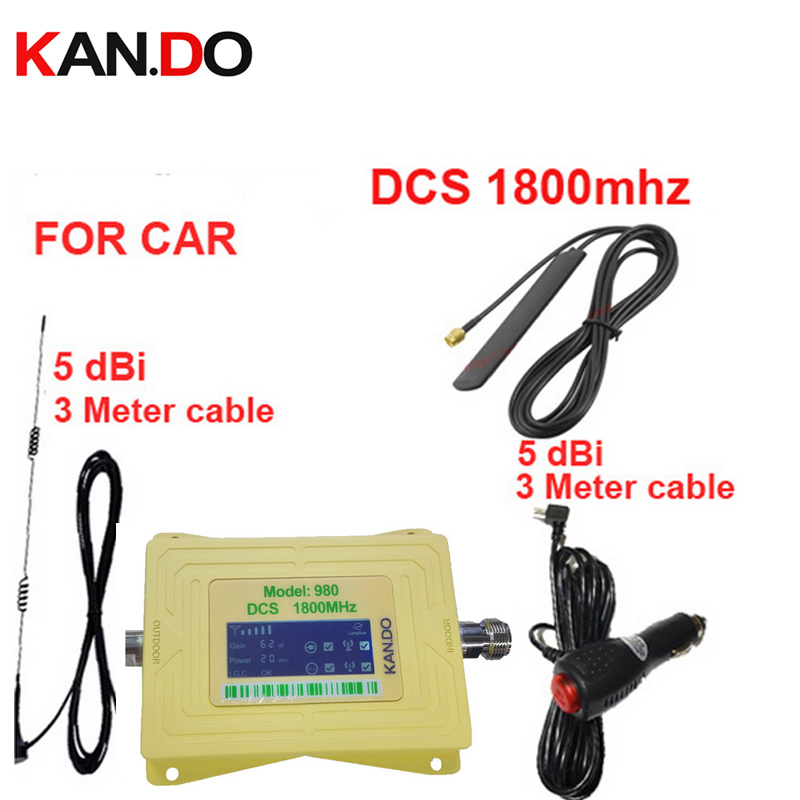 For Car Booster DCS 1800Mhz Mobile Phone Signal Booster For Car,LCD Display DCS 1800mhz Signal Repeater DCS For Vehicle Repeater