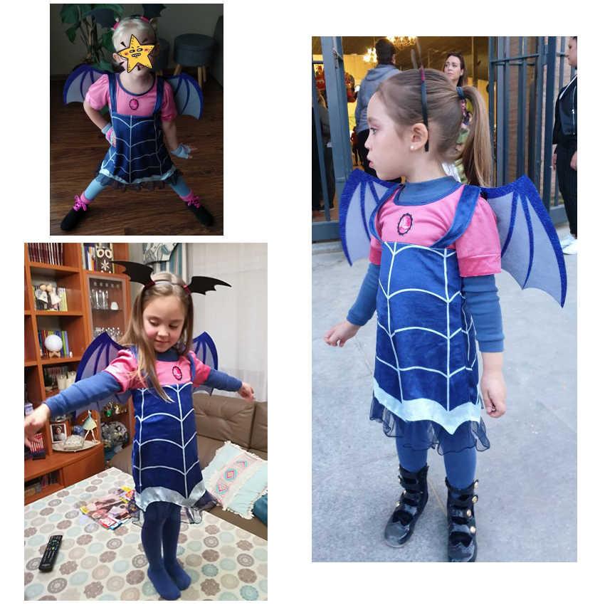 Vampirina เครื่องแต่งกายเด็กเครื่องแต่งกายแวมไพร์สาวคอสเพลย์ชุด Carnival PARTY เครื่องแต่งกายฮาโลวีนสำหรับเด็กสาวแฟนซีชุด