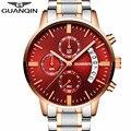 Relogio masculino relojes para hombre de primeras marcas de lujo guanqin reloj de los hombres del deporte de hombre de moda reloj de cuarzo de acero completo reloj luminoso