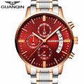relogio masculino Mens Watches Top Brand Luxury GUANQIN Watch Men Sport Full Steel Quartz Watch Man Fashion Luminous Wristwatch