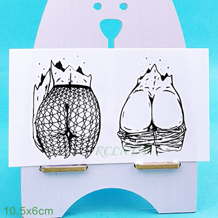 Waterproof Temporary Tattoo Sticker Sexy Buttocks Tatto Flash Tattoos Hips Fake Tatoo Tatouage Body Art For Girl Men Women