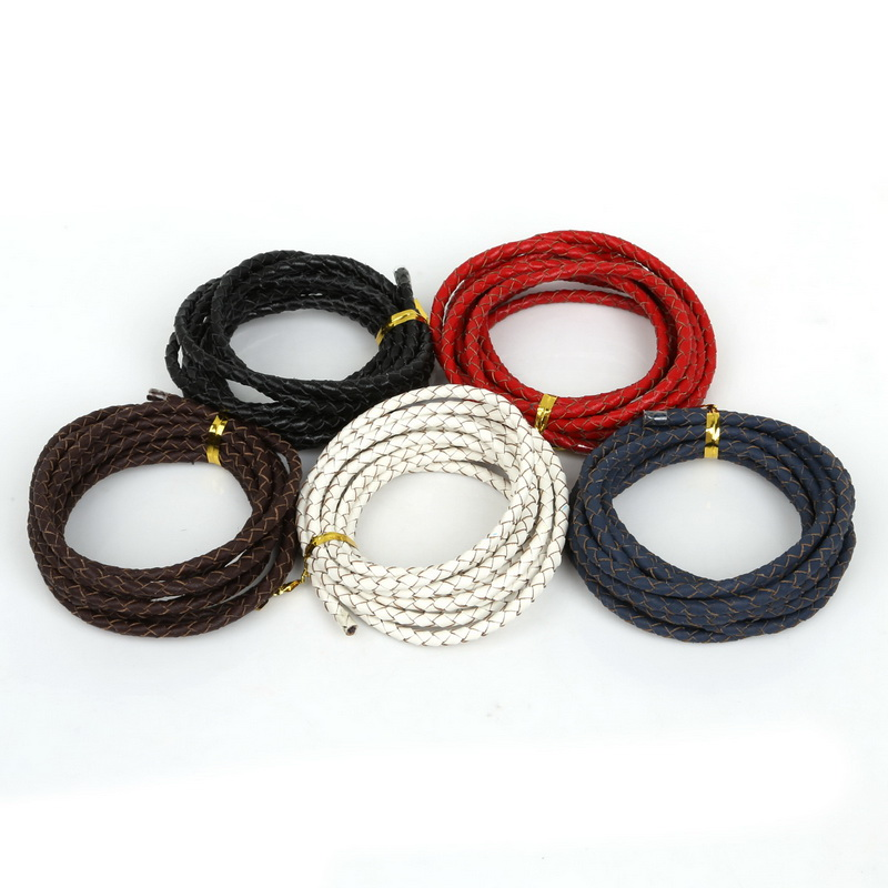 1m Faux Leather Cord Sewn Stitched 4mm Snake Skin in different colours