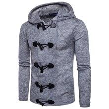 2017新しいスタイルトップ冬カジュアルセーター男性の維持暖かい国家風フード付きセーター肥厚コート男性ホーンボタンを飾る