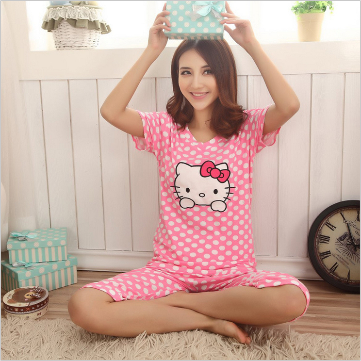 Aliexpress.com : Buy Summer 2014 Women's Pajamas Sets Ladies Hello ...
