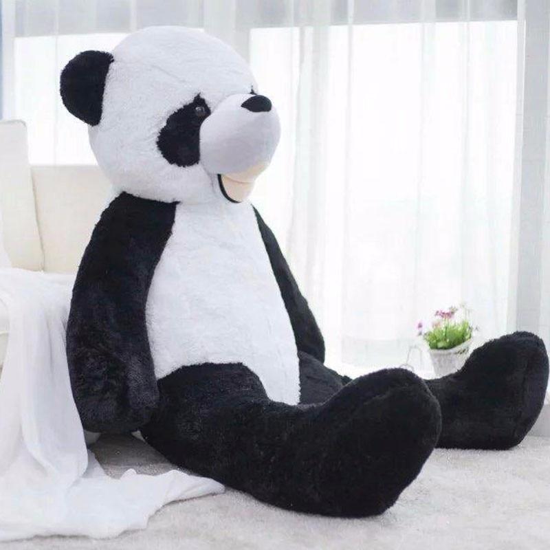 130-340cm Giant Panda Big Teddy Bear Skin Unstuffed Plush Toys Stuffed Animals Panda Bear Skin Toys Children Girls Love Gift