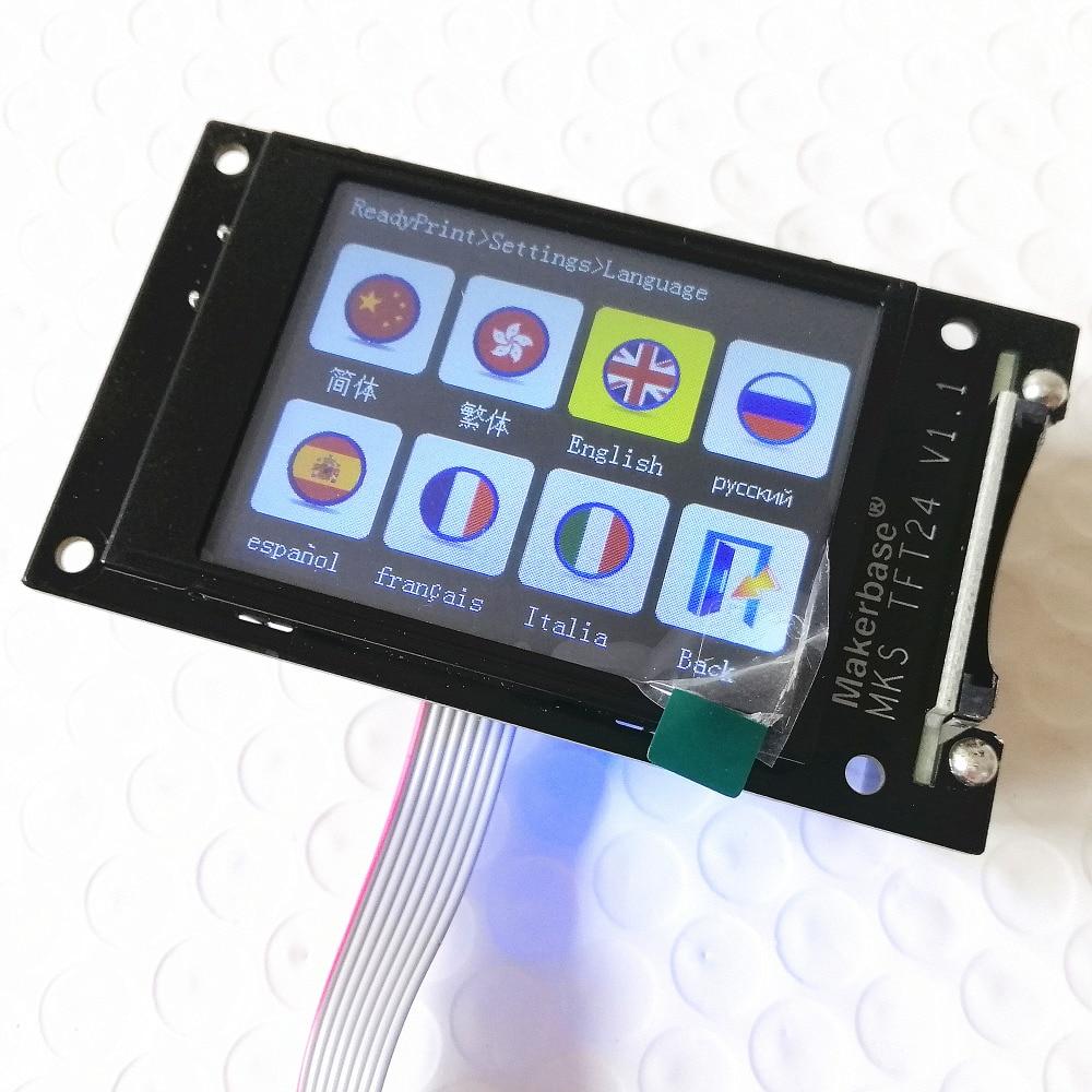 3d druck elemente MKS TFT24 touchscreen RepRap controller panel TFT 24 farbe display SainSmart splash-screen lcds Monitor