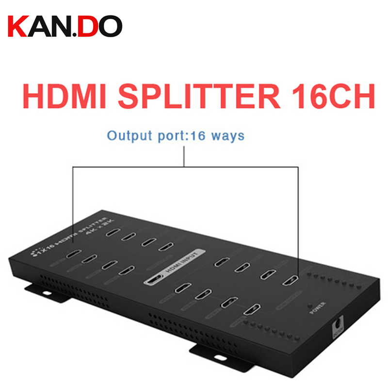 316A 4Kx2K HDMI Splitter 1x16 With Full 3D Real 4Kx2 Power Splitter Hdmi Divider 16 Channel Support LPCM 7.1 Video Adapter
