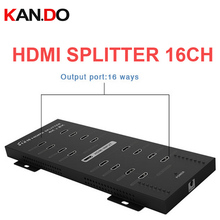 316A 4Kx2K HDMI splitter 1×16 with full 3D real 4Kx2 power splitter hdmi divider 16 channel Support LPCM 7.1 video adapter