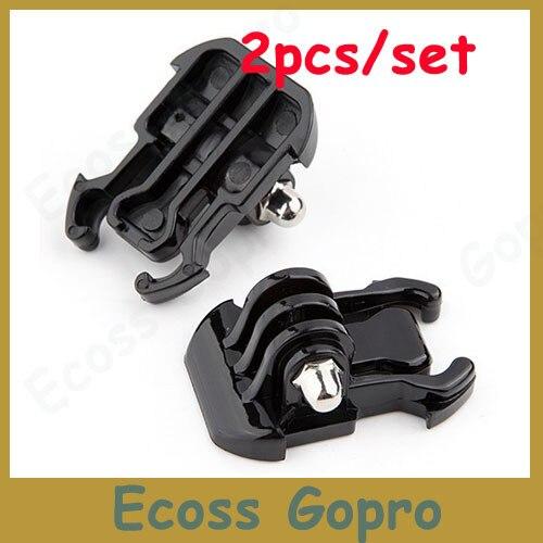 Casco de bloqueo de giro de 360 ° Adaptador de montaje con 3M adhesivo base curvada fr Gopro Hero 5 4
