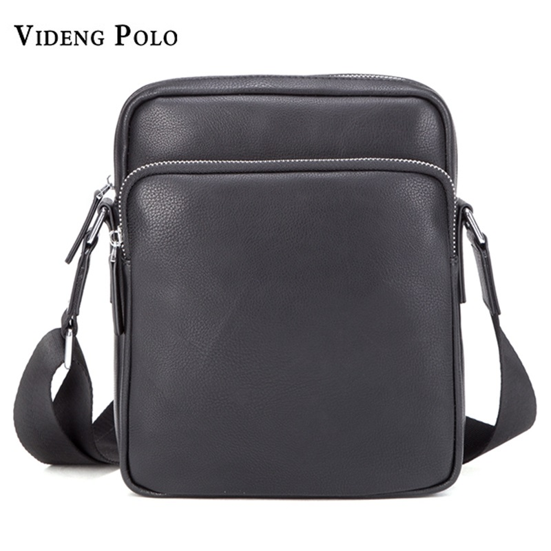 Luxury Brand Men Bags Business Leather Messenger Bag Casual Crossbody Bag Black Small Shoulder Bag For Male Travel Briefcase