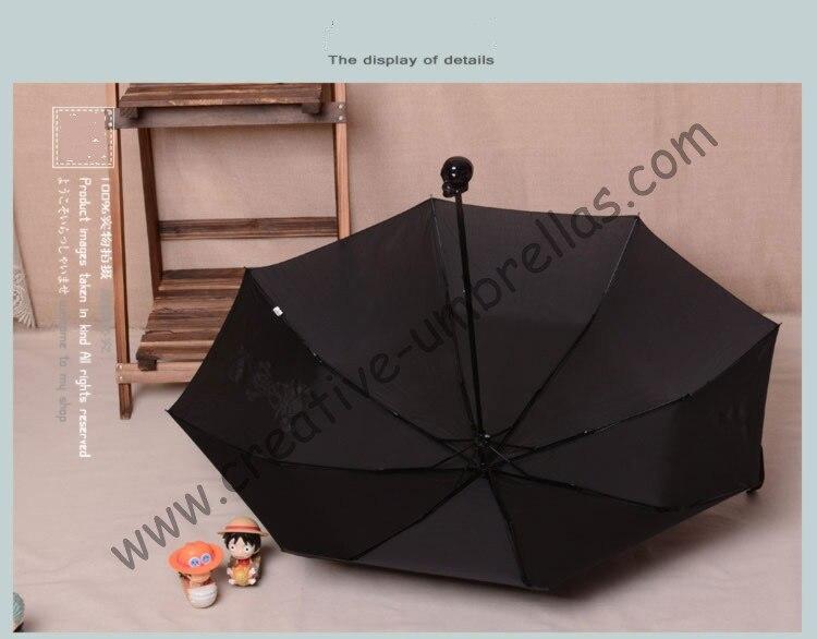 (6 шт./лот) три раза, открыть череп supermini pongee водонепроницаемая ткань, водоотталкивающая карманный зонтик, сумка Скелет мини-зонтик