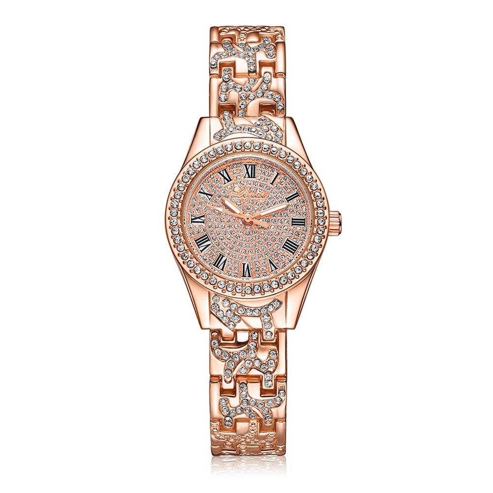 Lvpai Quartz Ժամացույցներ Կանանց շքեղ զգեստներ Նորաձևություն ժամացույցի բյուրեղյա ոսկե արծաթյա տիկնայք ձեռնաշղթա ժամացույցի ժամացույց relogio feminino