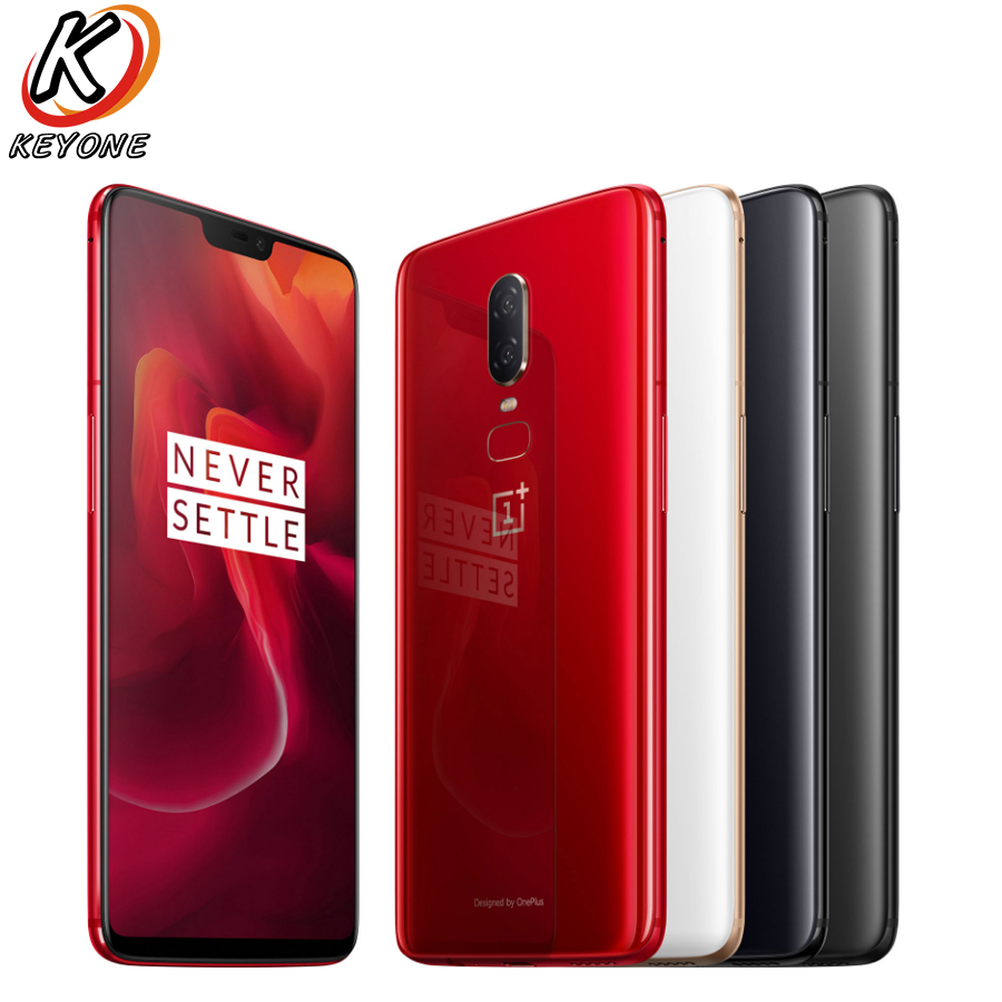 Brand New Oneplus 6 LTE Mobile Phone 6.28'' 8GB RAM 128GB ROM Snapdragon 845 Android 8.1 Dual Rear Camrea 20+16MP Waterproof NFC