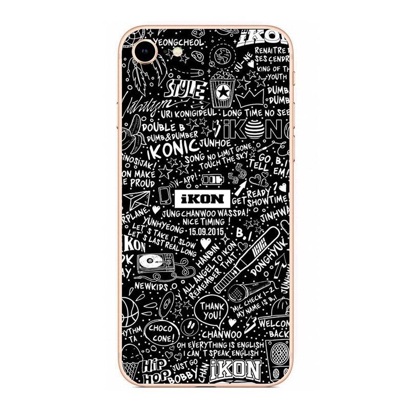 IKON KPOP мальчик группа Жесткий PC телефон матовый пластиковый чехол для  iphone 4 5 6 7 8 PLUS X