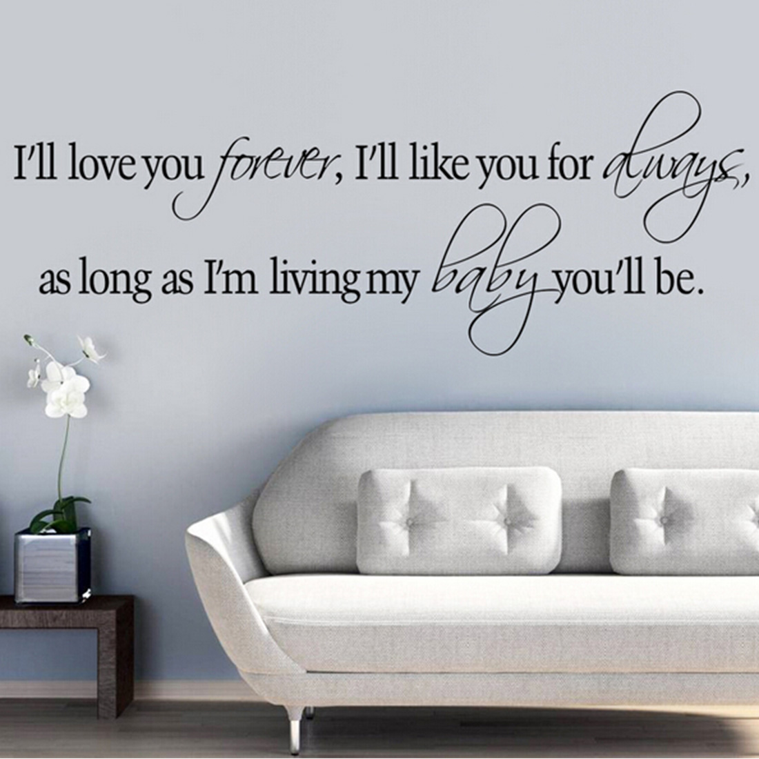I Ll Love You Forever Quote New Arrival I'll Love You Forever Vinyl Wall Stickers Home Wall