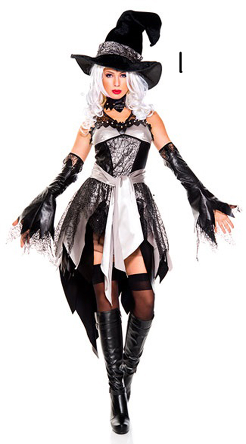 TITIVATE Adult Women Witch  Devil Cosplay Costume Halloween Theater Fancy Dress Carnival Party Masquerade Outfit Uniform