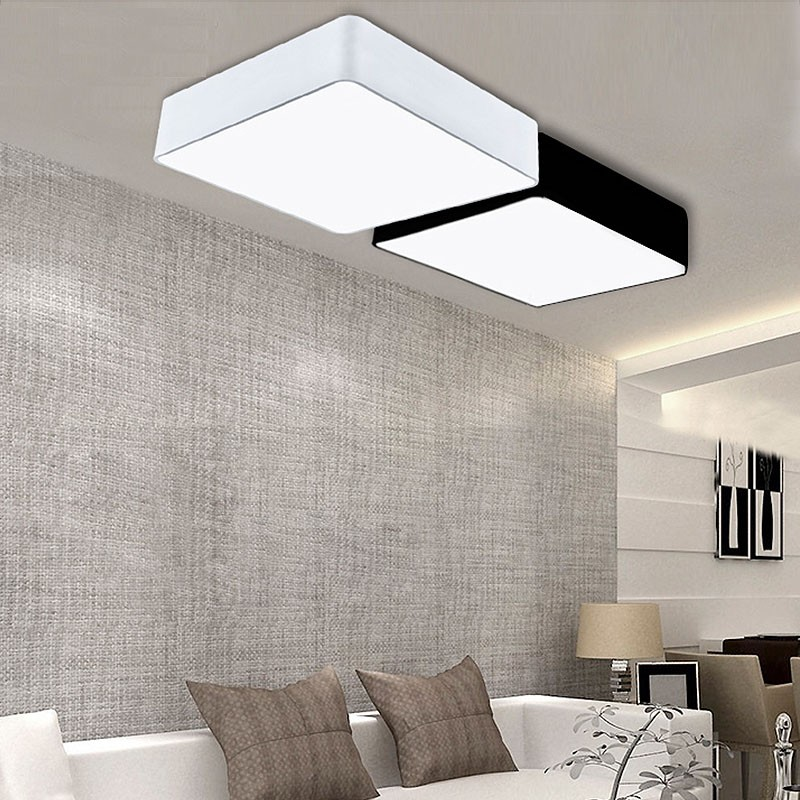 Modern Minimalism Rectangle DIY Led Ceiling Lights For Living Room Bedroom Hallway Home Lamp Decoration Lighting Fixtures|led Light Fashion|led Light Car Accessorieslight Lamp Led - AliExpress