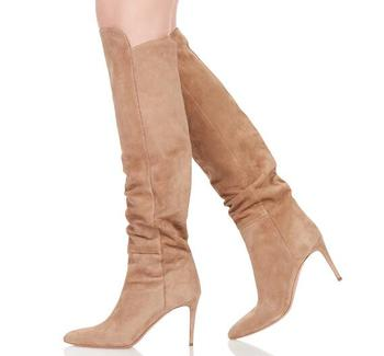 Chaussures femme boots suede leather stockings overknee boots sexy crotch female winter boots high heel long stretch booties