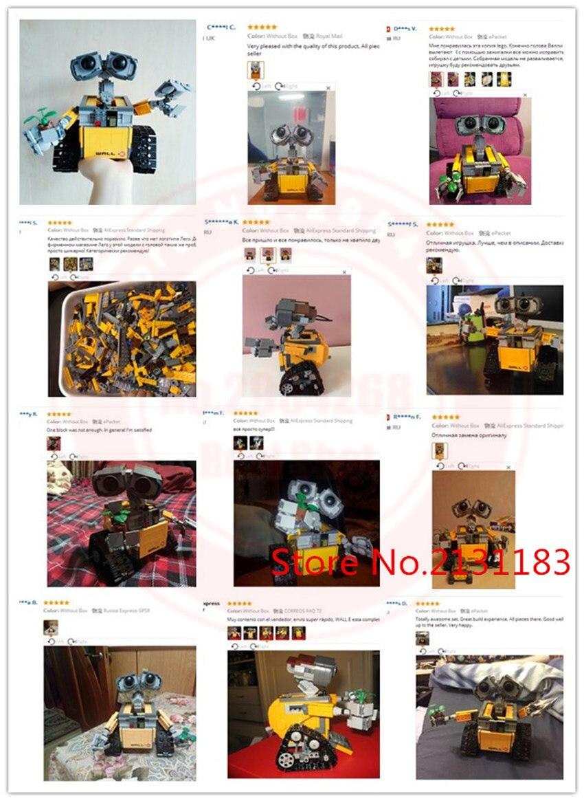 Nouveau IR RC piste puissance fonctions mur E Robot fit mur E idée technique figures bloc de construction brique bricolage jouet cadeau enfant anniversaire - 2
