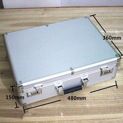 عالية الجودة الألومنيوم حالة أداة حالة الأدوات 47*35*14 cm خزنة حديدية صندوق محاسبة حقيبة مجلد حفظ الملفات أداة حالة مع قفل حقيبة