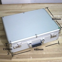 High Grade Aluminum Case Tool Case Toolbox 47 35 14cm Strongbox Meter Box Suitcase File Box