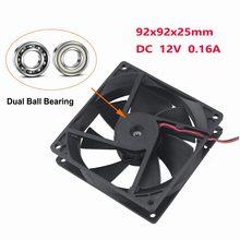 80mm 80 2 uds DC 12V 9cm 9225 90mm 2Pin rodamiento Compter CPU refrigerador del radiador ventilador de refrigeración sin escobillas 92mm 90mm * 90mm * 25mm