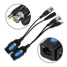 1 пара, Пассивный CCTV Coax BNC видео Мощность Балун Приемопередатчик к RJ45 разъем