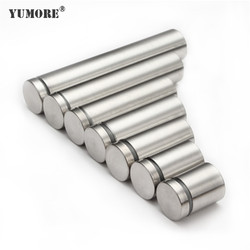 YUMORE 50pcs/lot LED Standoff Fixing Screws 19mm Glass fastener Standoff Spacer Stainless Steel Acrylic Advertisement Standoffs