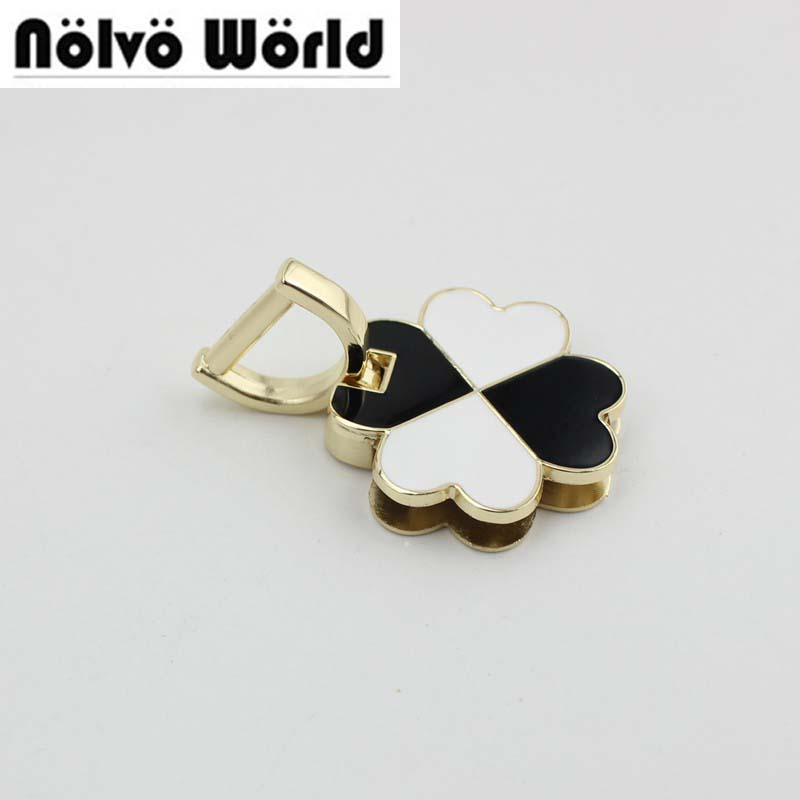 20pcs Clover Handle Connector On Both Sides Of The Screw Bag Handle Buckle Hardware Accessories Metal Fitting Hardware Handbag