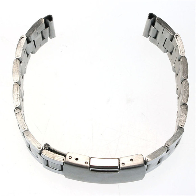 GEMIXI High Quality Women Men Watches Fabulous 18mm 20mm 22mm Stainless Steel Band Belt Strap Straight End Bracelet Links