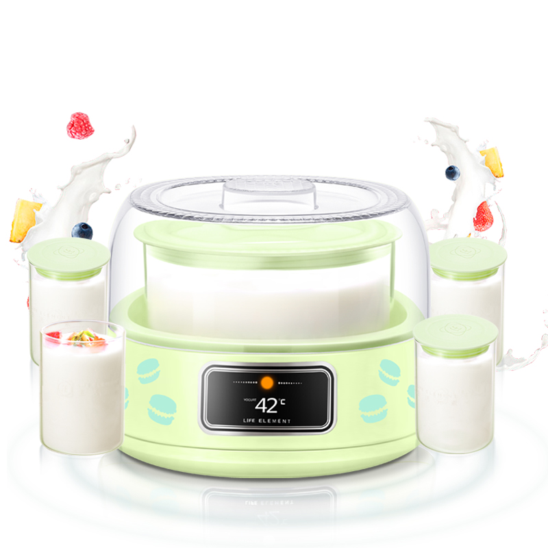 LIFE ELEMENT SNJ-313LE Yogurt Machine Home Fully Automatic Glass Stainless Steel Yogurt Maker hot selling electric yogurt machine stainless steel liner mini automatic yogurt maker 1l capacity 220v