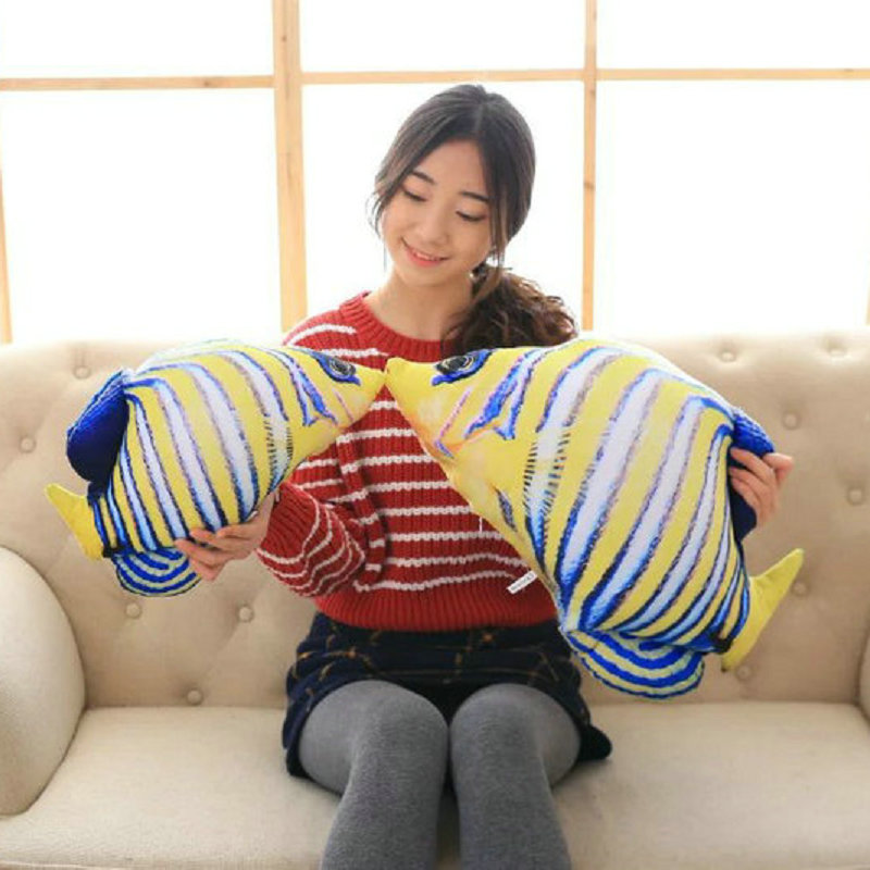Cute Stuffed plush doll tropical fish Plush Toys Fish pillow Cushion Fish cloth doll birthday gift 20-100cm Large Size toys fancytrader new style giant plush stuffed kids toys lovely rubber duck 39 100cm yellow rubber duck free shipping ft90122