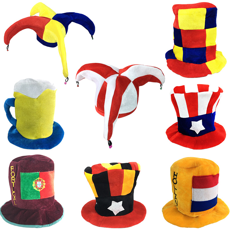 Novelty Adult Top Hat Clown Circus Birthday Party Halloween Carnival Supply