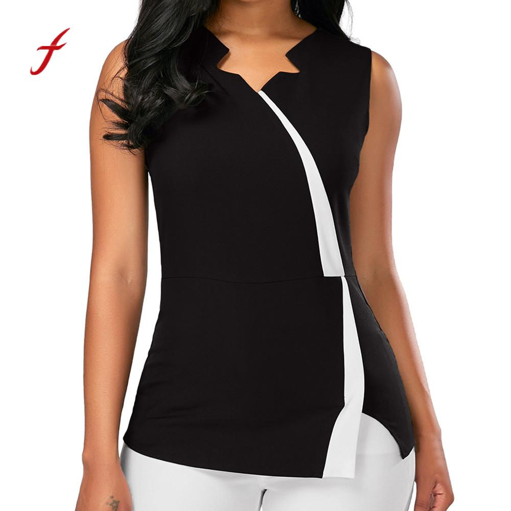 64deb4dc78844 Detail Feedback Questions about Feitong Large Size Sexy Top Women Fashion  Sleeveless Patchwork Tank Top V Neck Women Zipper Back Tank Vest Tops  Female  PY ...