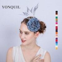 Silk Flower Artificial Flower Headband Artificial Flower Wedding Fascinator Hair Band Clips Millinery Decoration Wreaths SYF170