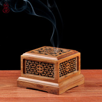Teak Is Hollow out Aroma Stove Wooden Incense Burners