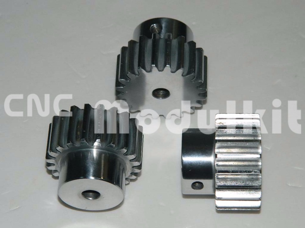 CNC Router Gear Pinion 21 Teeth Right Teeth For Mod 2-  20 Rack Gear 45# Steel Electroplated Under Customer Require CNC Modulkit