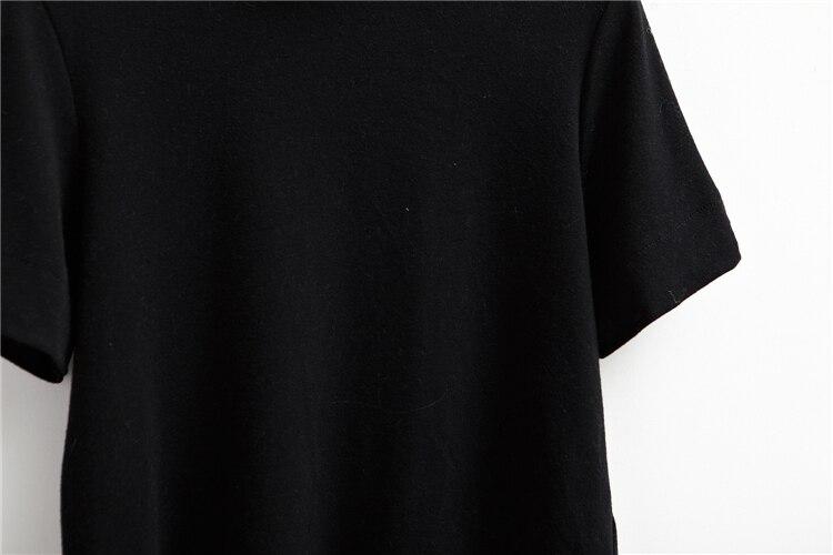 HTB1Gg7bLVXXXXc0XFXXq6xXFXXXT - Summer T-Shirt Short Style Casual Stand Collar