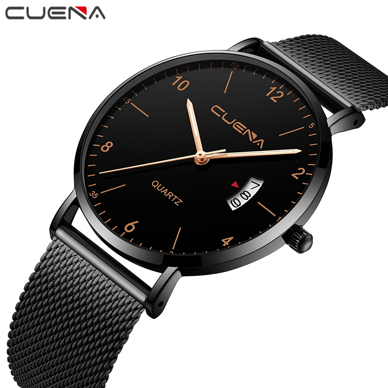 Mens Watches Top Brand Luxury Quartz Watch Men Casual Slim Mesh Steel Waterproof Sport Watch Erkek Saat Relogio Masculino