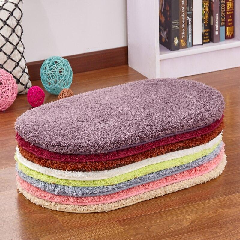 Coral Fleece Bath Mats Floor Protection Mat Oval Bedroom Kitchen Carpet  Toilet Bathroom Rug Seat Pad  9 Colors  tapis de bain. Online Get Cheap Oval Bathroom Rugs  Aliexpress com   Alibaba Group