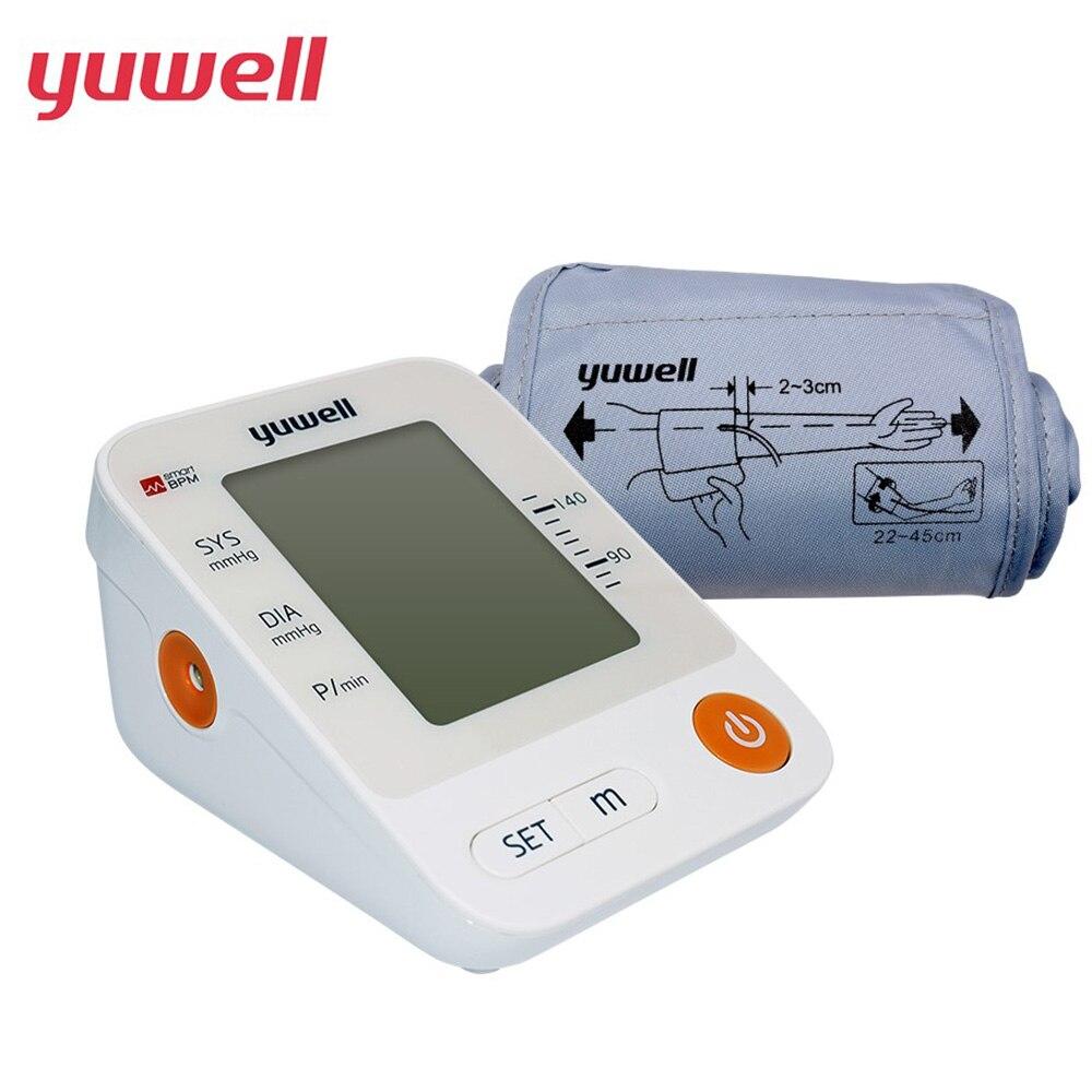 Yuwell YE670D électronique tensiomètre bras grand brassard sphygmomanomètre LCD numérique diffusion vocale équipement médical