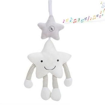 תינוק צעצועי עגלת מוסיקה כוכב עריסה תליית יילוד נייד תינוקות רעשן על מיטת תינוק קטיפה צעצועים חינוכיים עבור ילדים