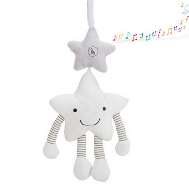 Baby Toys For Stroller Music Star Crib Hanging Newborn Mobile Infant Rattle On The Bed Baby Plush Educational Toys For Children