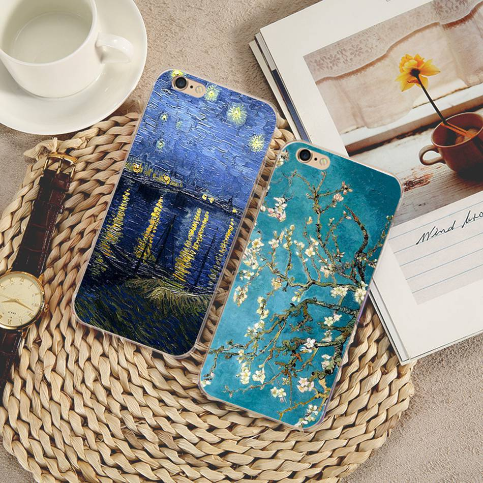 Kisscase Van Gogh Oil Painting Star Night Emboss Case For Samsung Galaxy A5 A7 A3 Soft Tpu Cover For Samsung Note 9 S9 S8 Plus Fitted Cases