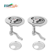 2 PCS Marine Grade SS316 Cam Latch Flush Pull Hatch Deck Latch Lift Handle with Back Plate Boat Hardware Accessories