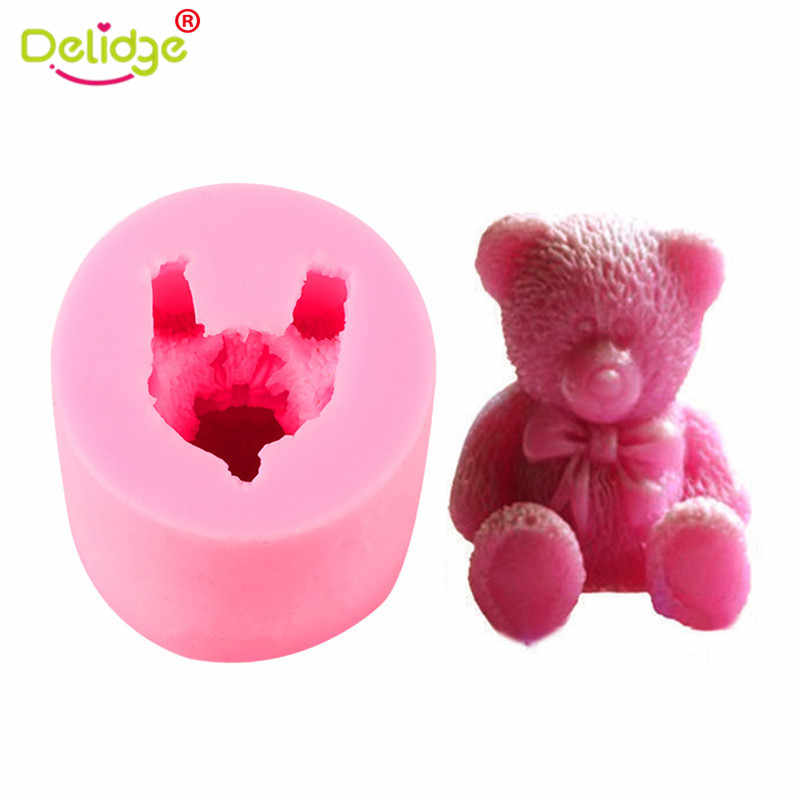 3D Bear Silicone Fondant Mold Cake Soap Cookies Chocolate Baking Mould DIY Tool