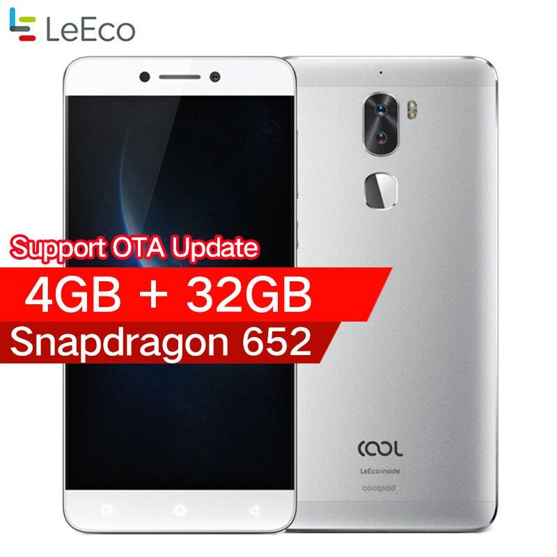 Оригинальный leeco Прохладный 1 Coolpad letv cool1 4 г LTE мобильный телефон Octa Core Android 6,0 5,5 FHD 3g /4 г 32 г двойной задней камерами